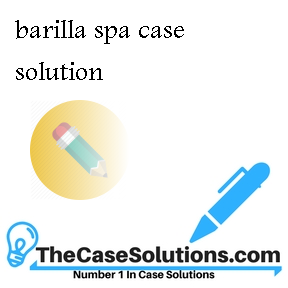 barilla spa case solution