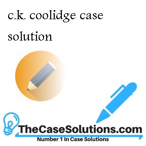 c.k. coolidge case solution