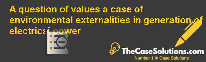 A question of values: a case of environmental externalities in generation of electrical power Case Solution
