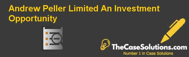 Andrew Peller Limited: An Investment Opportunity Case Solution