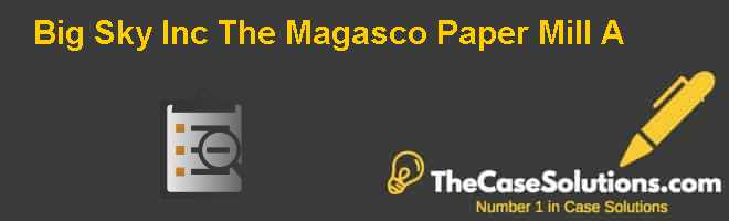 Big Sky Inc.: The Magasco Paper Mill (A) Case Solution
