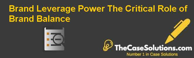 Brand Leverage Power: The Critical Role of Brand Balance Case Solution