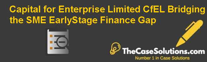 Capital for Enterprise Limited (CfEL): Bridging the SME Early-Stage Finance Gap Case Solution