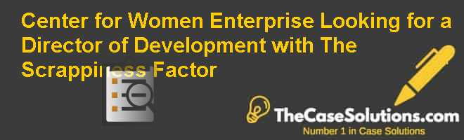 Center for Women & Enterprise: Looking for a Director of Development with The Scrappiness Factor Case Solution