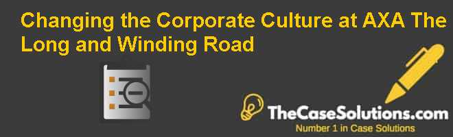 Changing the Corporate Culture at AXA: The Long and Winding Road Case Solution