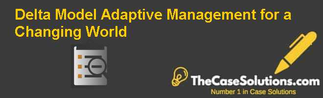 Delta Model: Adaptive Management for a Changing World Case Solution