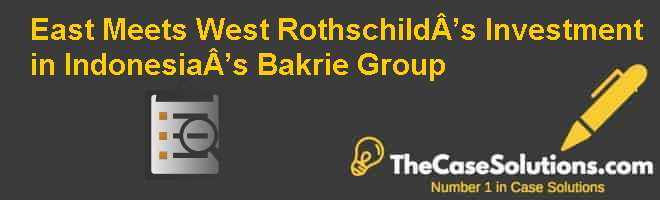 East Meets West: Rothschild's Investment in Indonesia's Bakrie Group Case Solution
