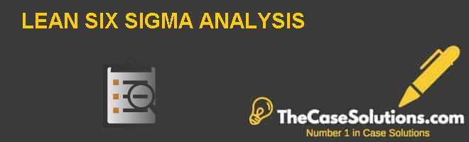 LEAN SIX SIGMA ANALYSIS Case Solution