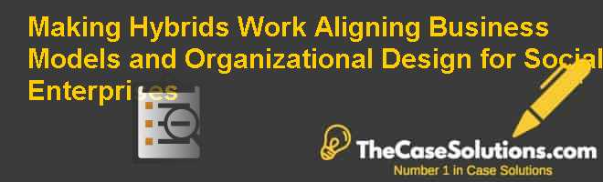 Making Hybrids Work: Aligning Business Models and Organizational Design for Social Enterprises Case Solution