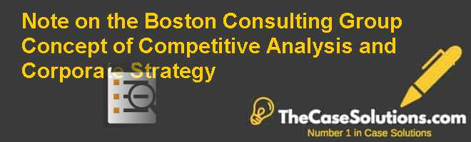 Note on the Boston Consulting Group Concept of Competitive Analysis and Corporate Strategy Case Solution