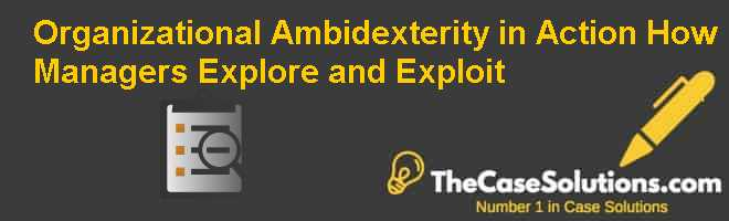 Organizational Ambidexterity in Action: How Managers Explore and Exploit Case Solution