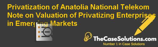 Privatization of Anatolia National Telekom:  Note on Valuation of Privatizing Enterprises in Emerging Markets Case Solution