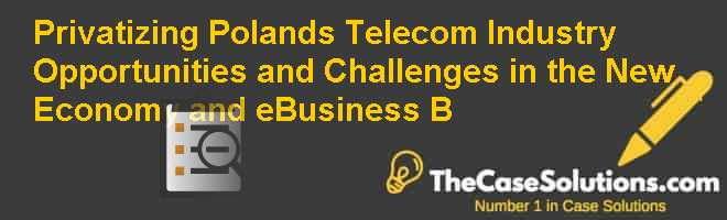 Privatizing Poland's Telecom Industry: Opportunities and Challenges in the New Economy and e-Business (B) Case Solution