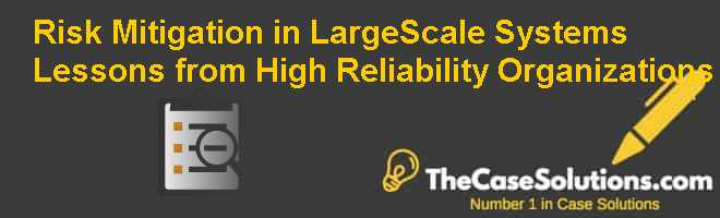 Risk Mitigation in Large-Scale Systems:  Lessons from High Reliability Organizations Case Solution
