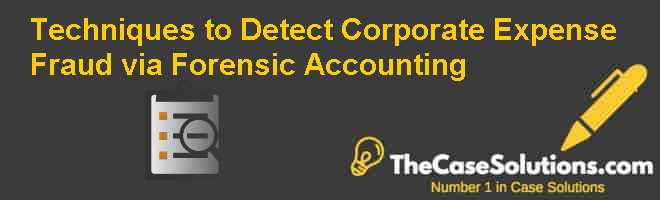 Techniques to Detect Corporate Expense Fraud via Forensic Accounting Case Solution