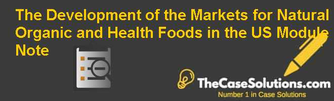 The Development of the Markets for Natural, Organic, and Health Foods in the U.S., Module Note Case Solution