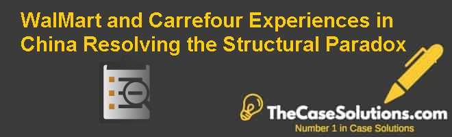 Wal-Mart and Carrefour Experiences in China: Resolving the Structural Paradox Case Solution